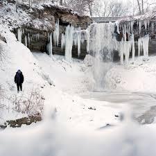 Minnehaha Falls frozen